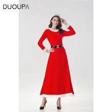Christmas costume adult girl bunny sexy cos cute Santa winter clothes ds costumes with hat + belt long skirt