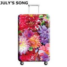 JULY'S SONG Elastic Thickest Travel Luggage Cover Suitcase Protective Case for Trunk Case Apply to 18''-32'' Suitcase Cover(China)