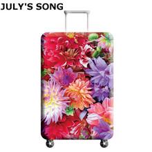 JULYS SONG elastyczne najgrubsze Travel bagaż okładka walizka ochronna Case do bagażnika zastosowanie do 18-32 walizka okładka tanie tanio Akcesoria podróżne 74cm Poliester Odbitki zwierzęce PIOSENKA LIPCA 400g 50cm 28cm Pokrowiec na bagaż AAB0940 suit for the suitcase 18 -21