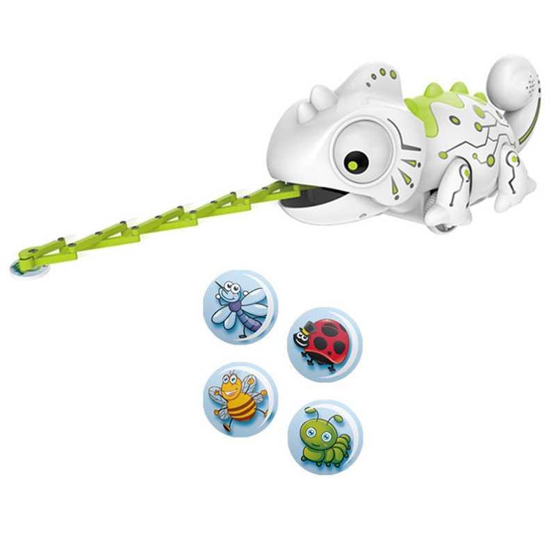 Электронные питомцы игрушки Rc робот умный Хамелеон роботизированные животные могут есть вещи функция милые умные игрушки для детей