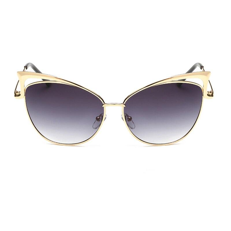 AOKALI Logam Cat Eye Sunglasses Wanita Kacamata Cat Eye Merek Designer  Vintage Retro Terpolarisasi Kacamata Wanita 935578539b