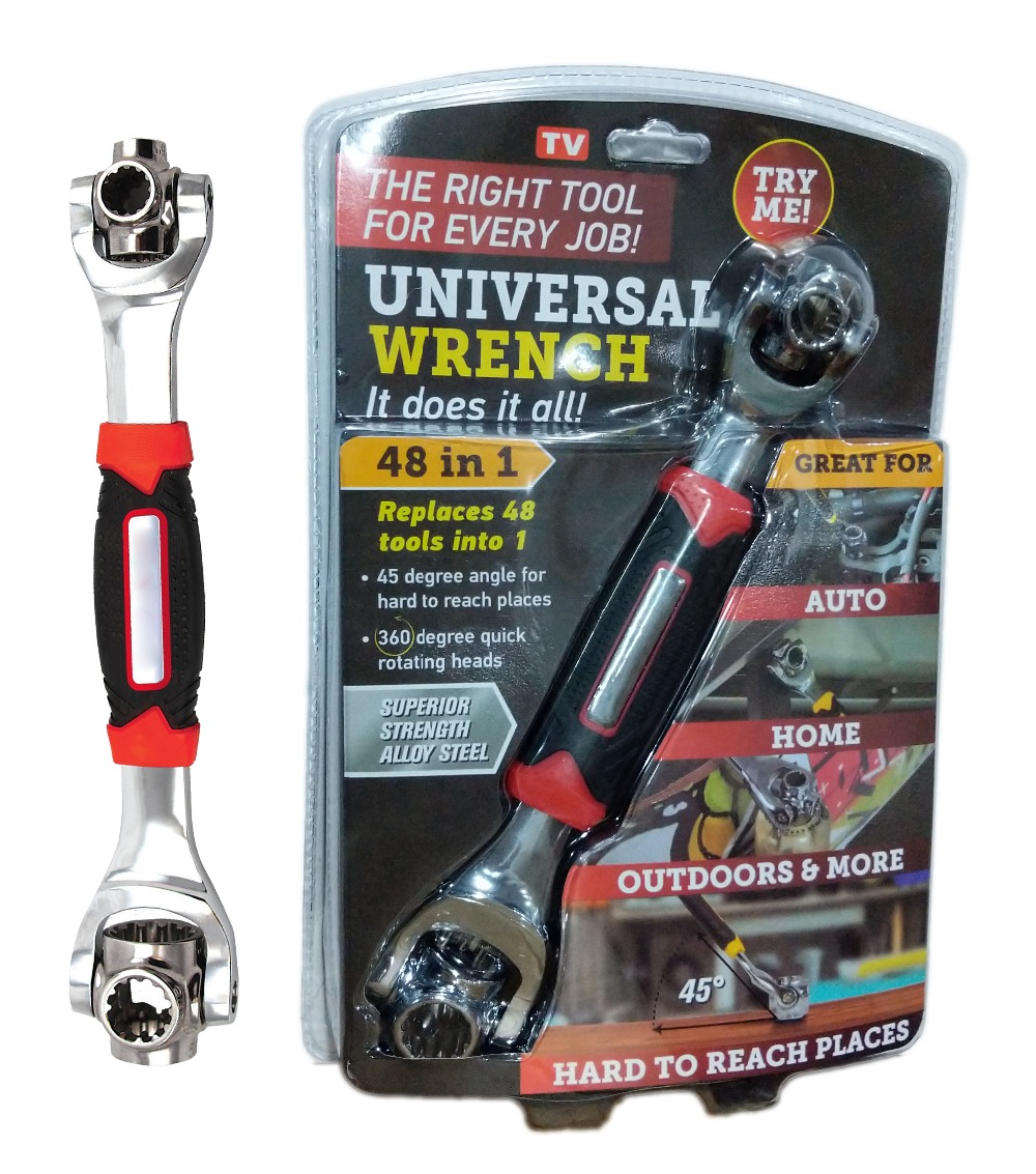 Tiger Wrench 8 In 1 Socket Wrench | Works with Spline Bolts, 6-Point, 12-Point, Torx, Square Damaged Bolts