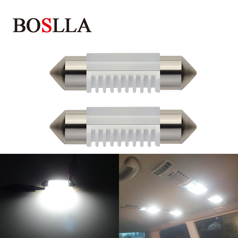 BOSLLA C5W led bulb C10W Festoon 31mm 36mm 39mm 41mm Car Interior Lights SMD 3030 COB Bu ...