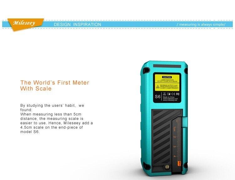 Купить S6 Лазерный Мера 60 М Измерительный Инструмент Лазерный Дальномер Diastimeter Langefinder Medidor Синий Оптические Приборы дешево