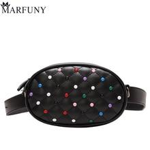 MARFUNY zīmola vidukļa soma Sieviešu somas Dizaineris Fanny pakas Lady's Belt somas Sieviešu slavenā zīmola kniedes rokassomu plecu soma maku