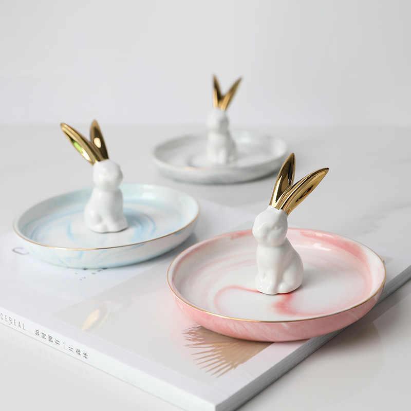 Piccolo Flamingo Unicorno Ananas Decorativo Piatto Piatto di Porcellana Piatto Gioielli Collana Anello Vassoio di Immagazzinaggio Trinket Vanity Piatto
