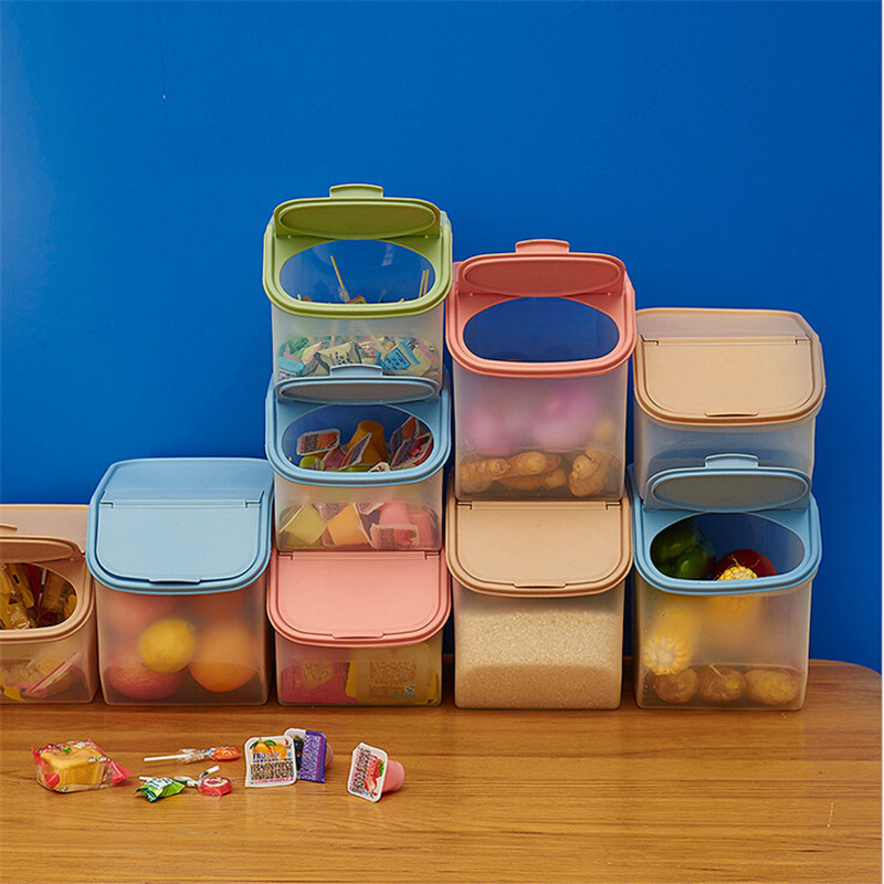 Food Storage Grain Sealed Cans Dry Dried Food Cereal Flour Storage Rice Container Dispenser Sealed Box Tools