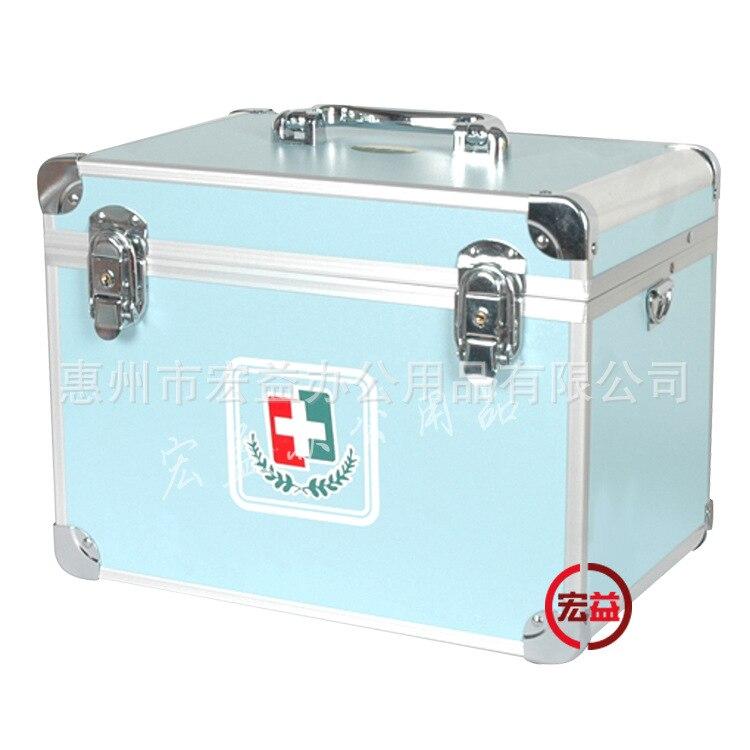 Famille Belle Haute Capacité Extérieure Portable Multicouche Médecine Poitrine Médical Trousse de Premiers soins Boîte De Rangement des Médicaments Bleu Clair
