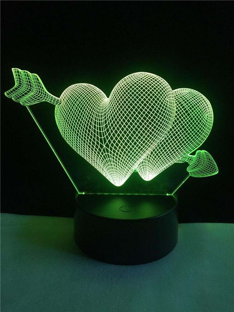 Luzes da Noite cupido seta através do coração Estilo : Romantic Fashion