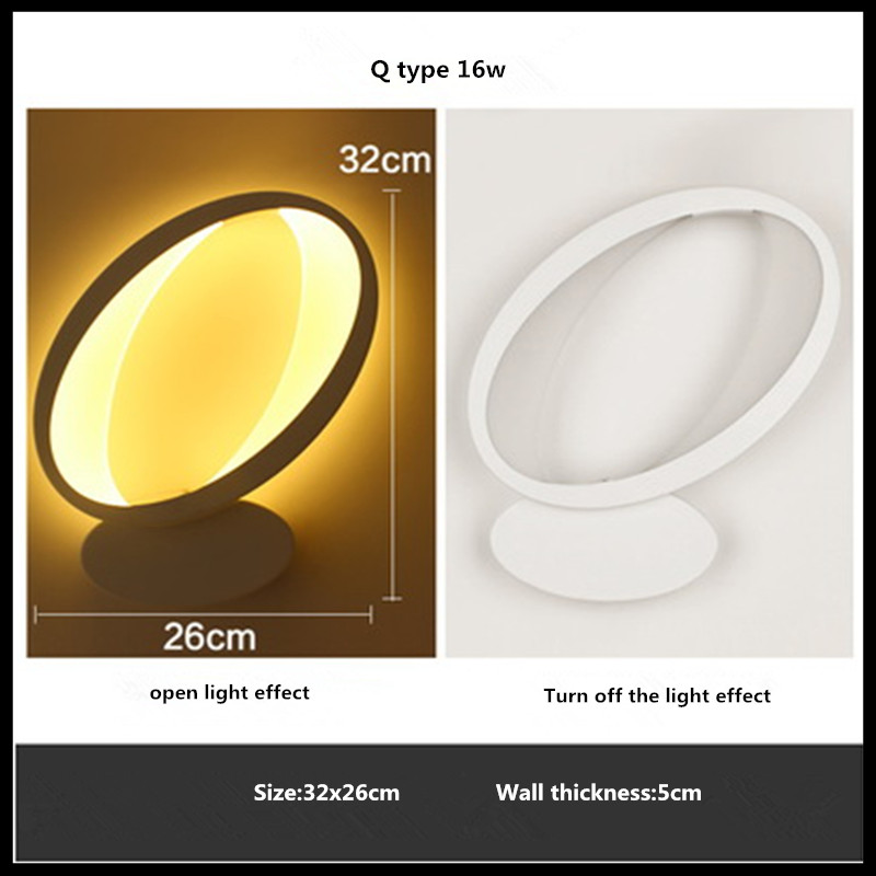 Modern Led Wall Lamp 16W Wall Sconces Indoor Stair Light Fixture Bedroom Bedside Living Room Home Hallway Wall Light fashion rustic iron bedroom bedside wall light fixture home deco living room e27 wall lamp european vintage glass wall sconces