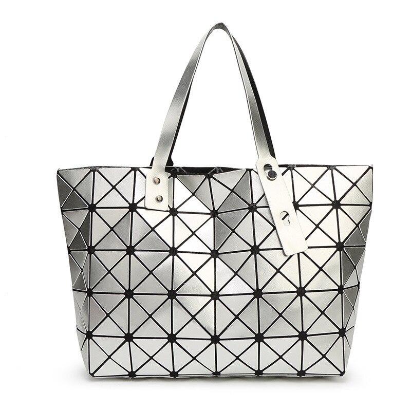 The New Woman Bags Rubik's Cube Lingge Geometry Ladies Handbag Paint Shoulder Bags Laser Pack Big Bag Wholesale Dropship