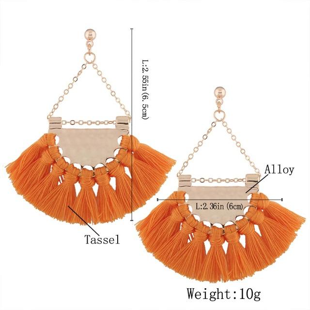 Bohemia Tassel Earrings Style T003