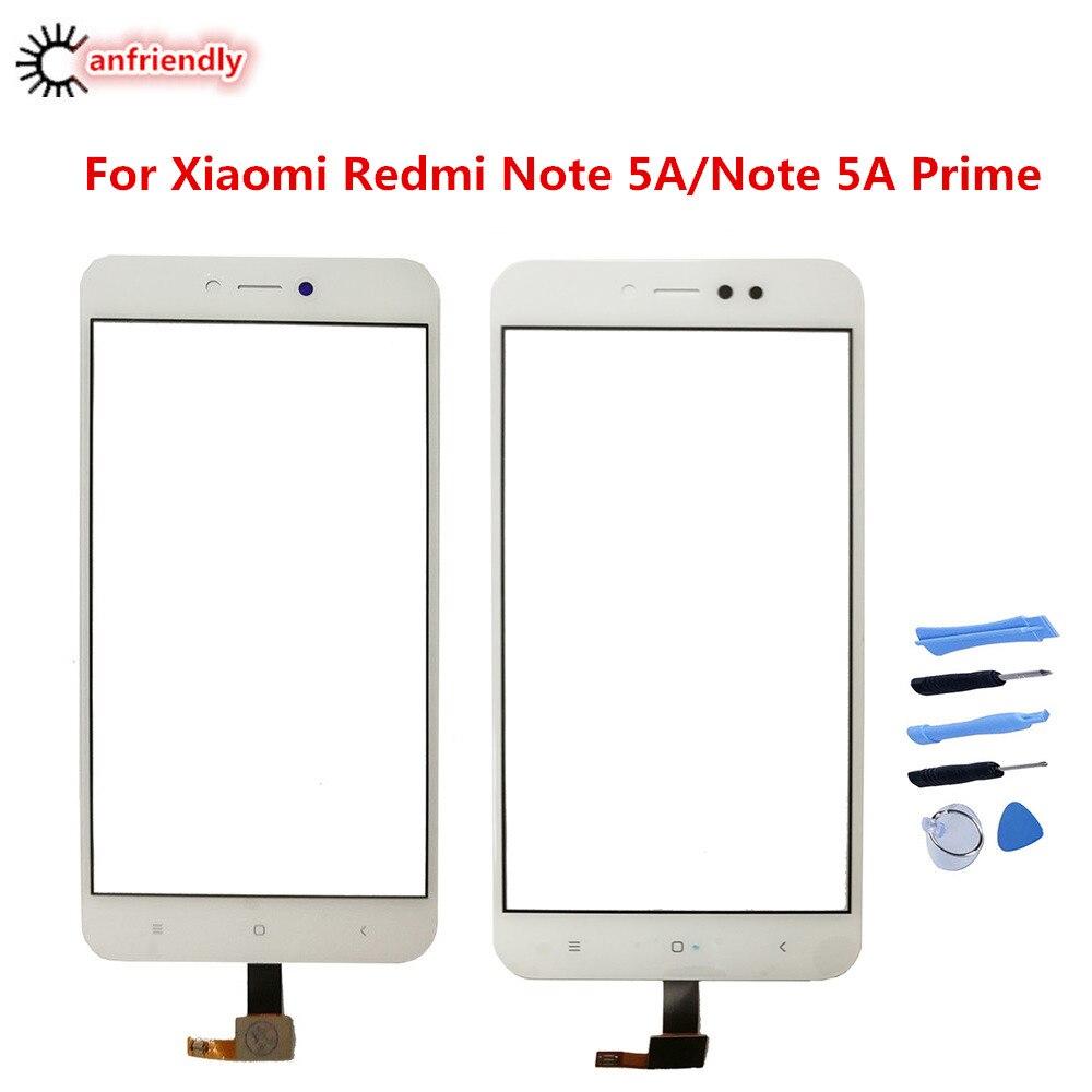 Para Xiaomi Redmi nota 5A 5 un primer pantalla táctil Reparación de Panel accesorios del teléfono de cristal para Xiaomi Redmi Note Note5A primer