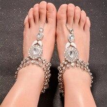 New Bohemian Vintage Anklet for Women Tassel Gem Foot Jewelry Barefoot  Sandal Crystal Multilayer Anklet Beach Wedding 25747f63dfaf