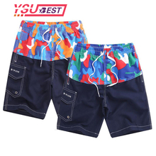 9a67e8ad9b364 Big Boys Printed Beach Shorts Quick Dry Running Shorts Swimwear 7-16Y Swimsuit  Swim Trunks