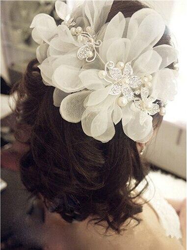 Kena hõbedane lilledega juuksenõel