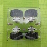 Mini DIY Acrylique N20 Châssis De la Voiture Intelligente Transparence 4WD Deux Couche RC Robot BRICOLAGE Kit N20 Moteur 90*90mm Roues
