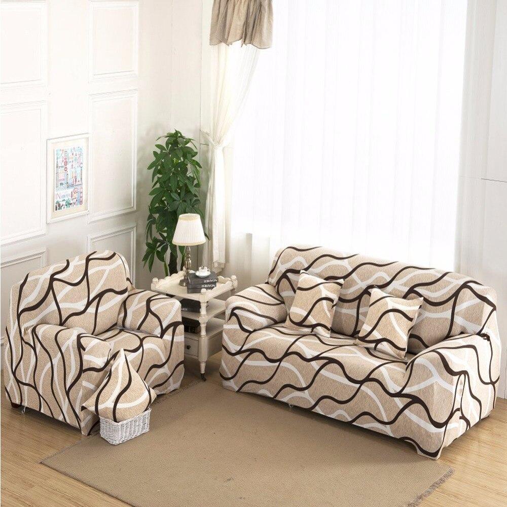 Stripe Circle Sofa Cover Tight Wrap Slipcovers All inclusive Anti Slip Elastic Sofa Covers Stretchy Sofa
