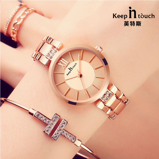 4ef8a7d6e0af 2018 New Luxury Quartz Watch Fashion Design Bracelet Women s Watches Famous Brands  Rose Gold Wristwatches relogio feminino