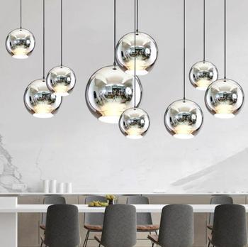 Globi Di Lampade | Stile Moderno Palla Di Vetro Dello Specchio Lampade A Sospensione Di Rame Di Colore Globo Di Luce Lampada A Sospensione Moderna Apparecchi Di Illuminazione 1 Pezzo