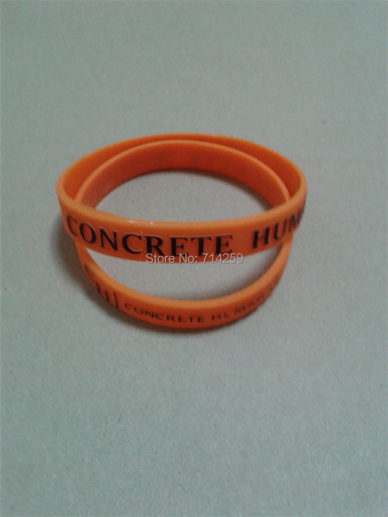 Lot Customized Personalized Text& Logo Rubber Wristband Bracelets  For Events P092006(china (