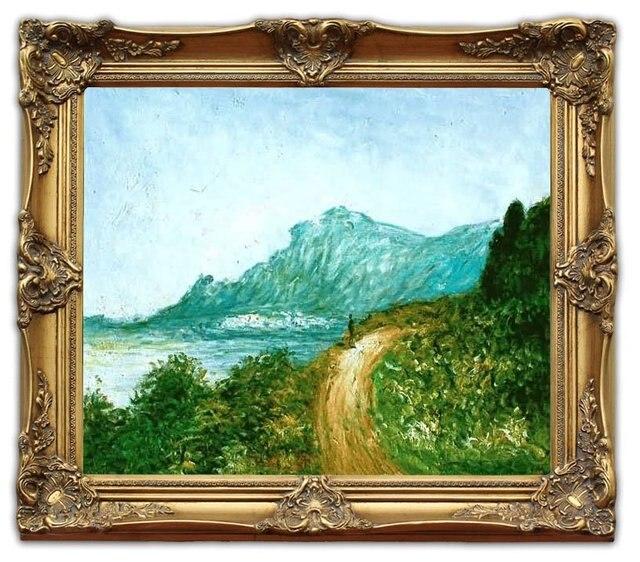 6414 wooden oil painting frames cap martin near menton monet landscape art 20x24 - Wholesale Arts And Frames
