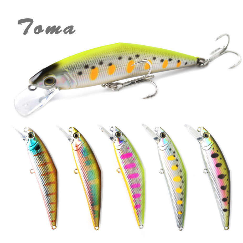 TOMA Minnow Fishing Lure 85mm 15g Floating Minnow Wobbler Hard Lure 0.5-1.5m Bass Pike peche isca artificial Bait Tackle