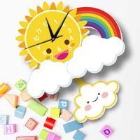 Modern Silent 3D Cartoon Wall Clock Clocks Wall Stickers Guess Watch Mechanism Clocks Children Relogio Parede Home Decor WZH103