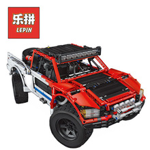 все цены на LEPIN 23013 Genuine Technic MOC car Pickup truck bricks model building kits blocks LegoINGlys bricks boys toys for Christmas
