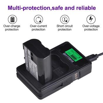 1Pc EN-EL15 ENEL15 batería + LCD USB cargador Dual con puerto tipo C para Nikon D600 D610 D600E D800 d800E D810 D7000 D7100... z6... Z7