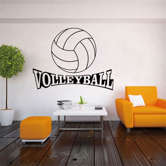 Creative Volleyball Art Wall Stickers Diy Vinyl Decor Mural Room Decal Waterproof Removable Pvc