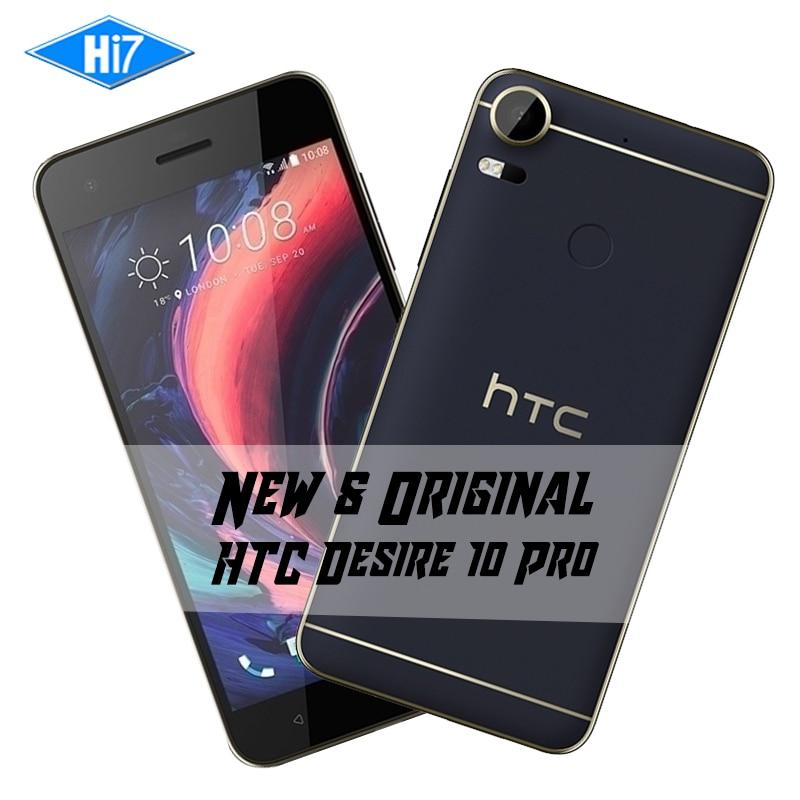 Nouveau HTC Desire 10 Pro Octa base Android 6.0 Double SIM 20.0MP 5.5 pouces 3000 mAh 4 GB RAM 64 GB ROM 4G LTE D'empreintes Digitales Mobile téléphone