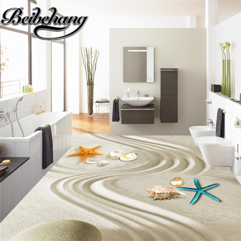 Beibehang Custom 3d Floor Painting Floor Painting Waterproof Bathroom Kitchen Balcony Self - Adhesive Decorative Floor Stickers Street Price