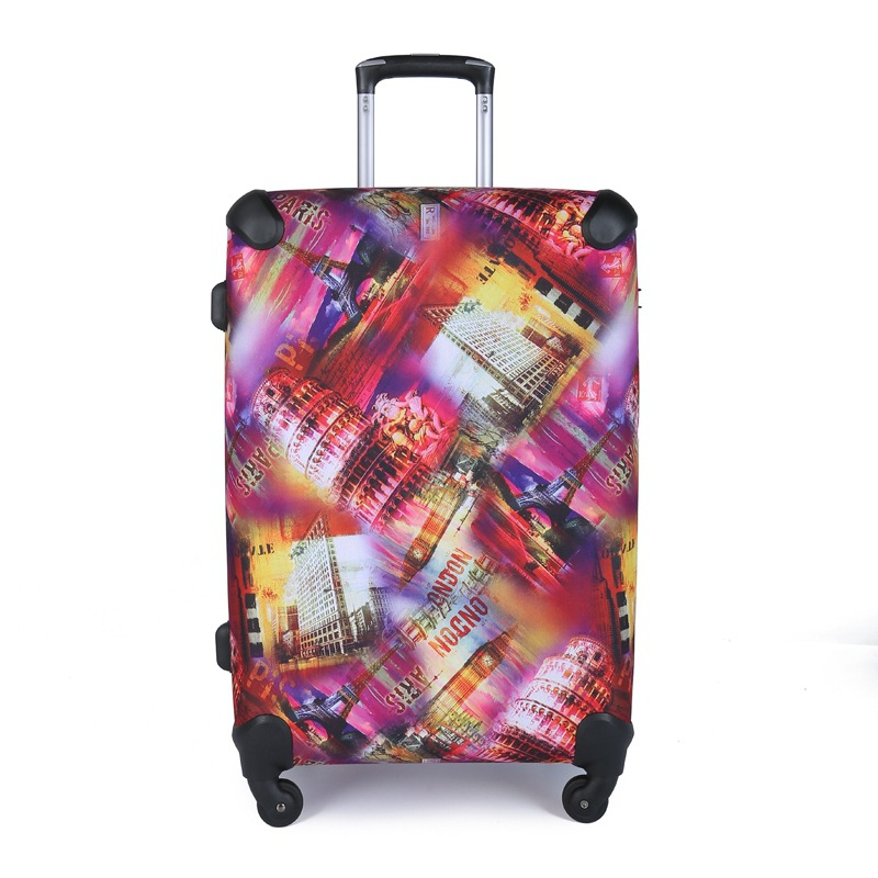 New Painted Trolley Case Male/Female Fashion Trolley Luggage Bag Universal Wheels Travel Suitcase cool fluid oxford fabric box luggage female universal wheels trolley luggage bag travel bag male luggage new 20 22 24 26 28bags