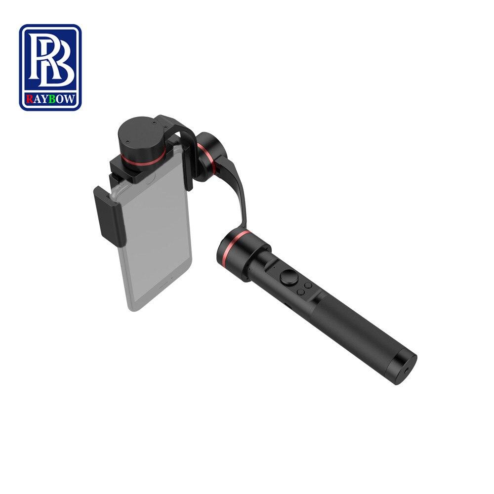 Raybow S2 aluminium alloy handheld brushless 3axis hand gimbal for phone s7 edge iphone gopro sjcam