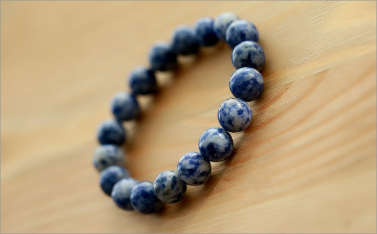Fashion Natural Blue Stone Men Bracelet 2