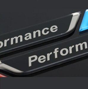 Image 3 - 新しい 2pec/セット m 電力性能フェンダー車スタイリングデカールエンブレムバッジ BMW M 1 3 4 5 6 7 E Z × 車のステッカーアクセサリー