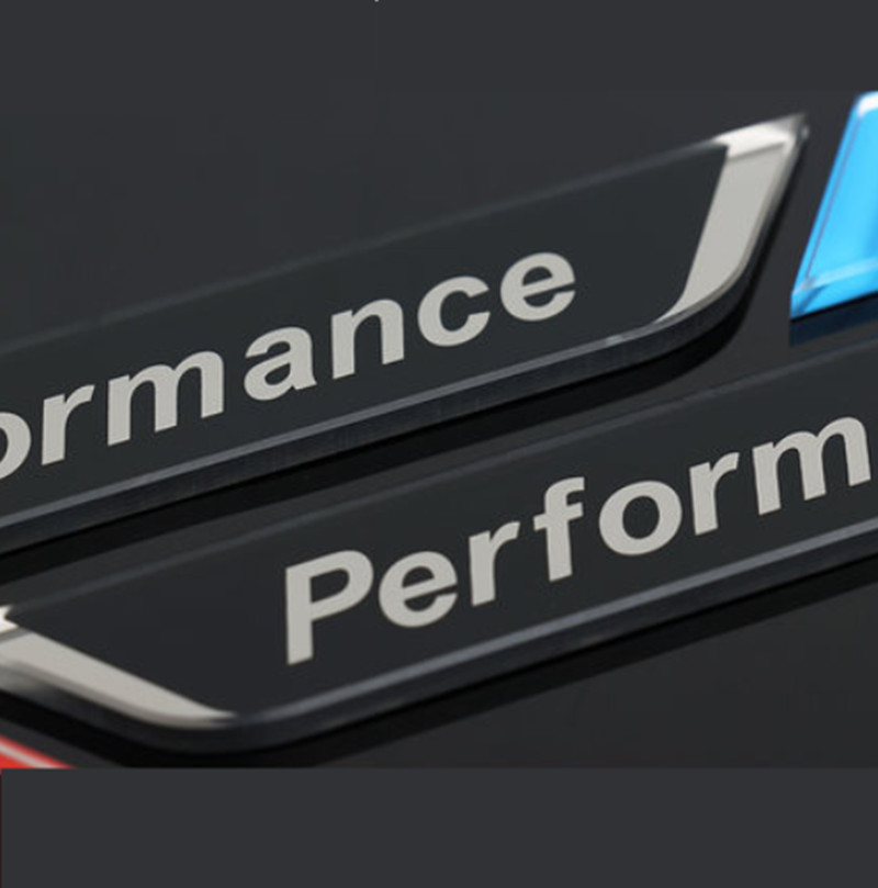 Image 3 - New 2pec/set M Power Performance Fender Car Styling Decal Emblem Badge For BMW M 1 3 4 5 6 7 E Z X Car Stickers Accessories-in Car Stickers from Automobiles & Motorcycles