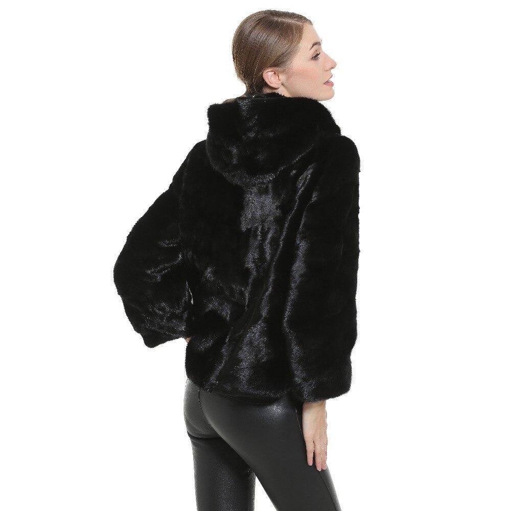63 Fourrure Chaude Pour Femelle Les Manteau Gilet Noir Honorable Véritable Manteaux Femmes Vison Parka De Cm Naturel r7SxrF