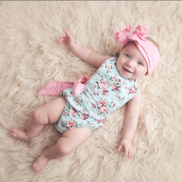 6e047a3a4eef Photo prop baby boutique floral romper jumpsuit Girls Sunsuit cotton ruffle  Romper Baby Bubble Romper kids outfit
