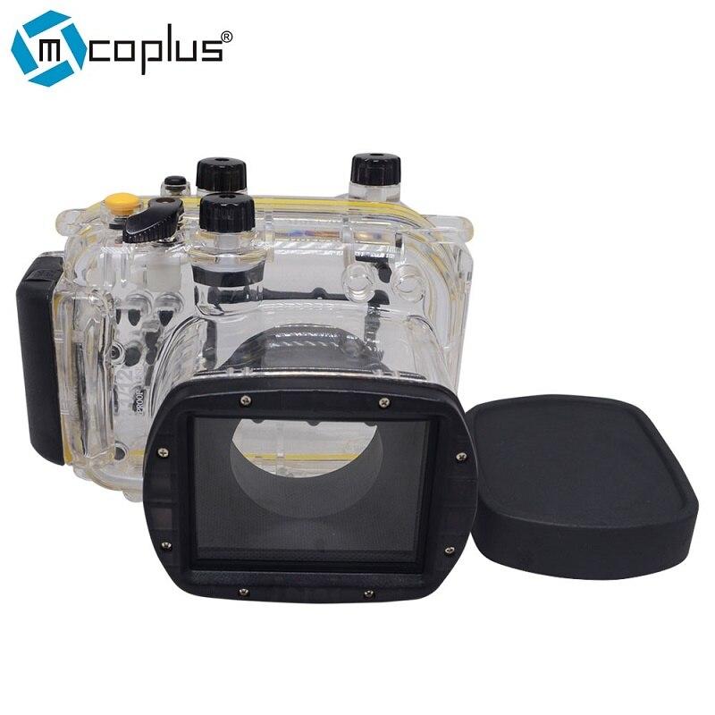 Mcoplus 40m/130ft Underwater Waterproof Diving Housing Camera Case for Canon Powershot G ...