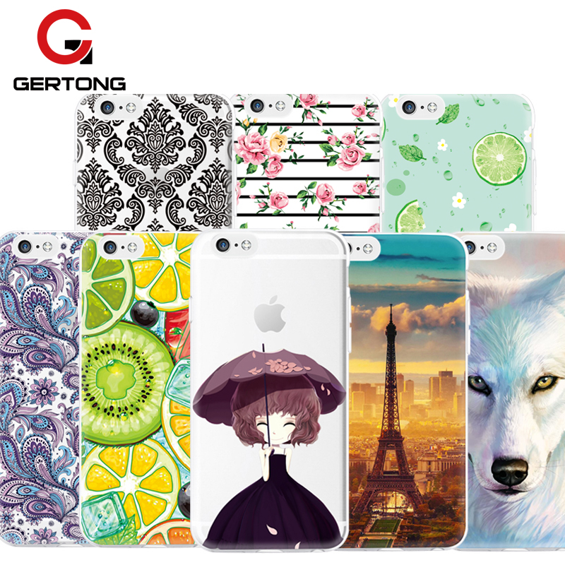 GerTong Pattern Phone Case For iPhone 5 5S 6 6S 7 7s Plus 4 4S For Samsung Galaxy A3 A5  ...
