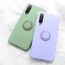 Natrberg Liquid Case For Samsung Galaxy A50 Magnetic Car Ring Matte Silicone Soft Cover A 50