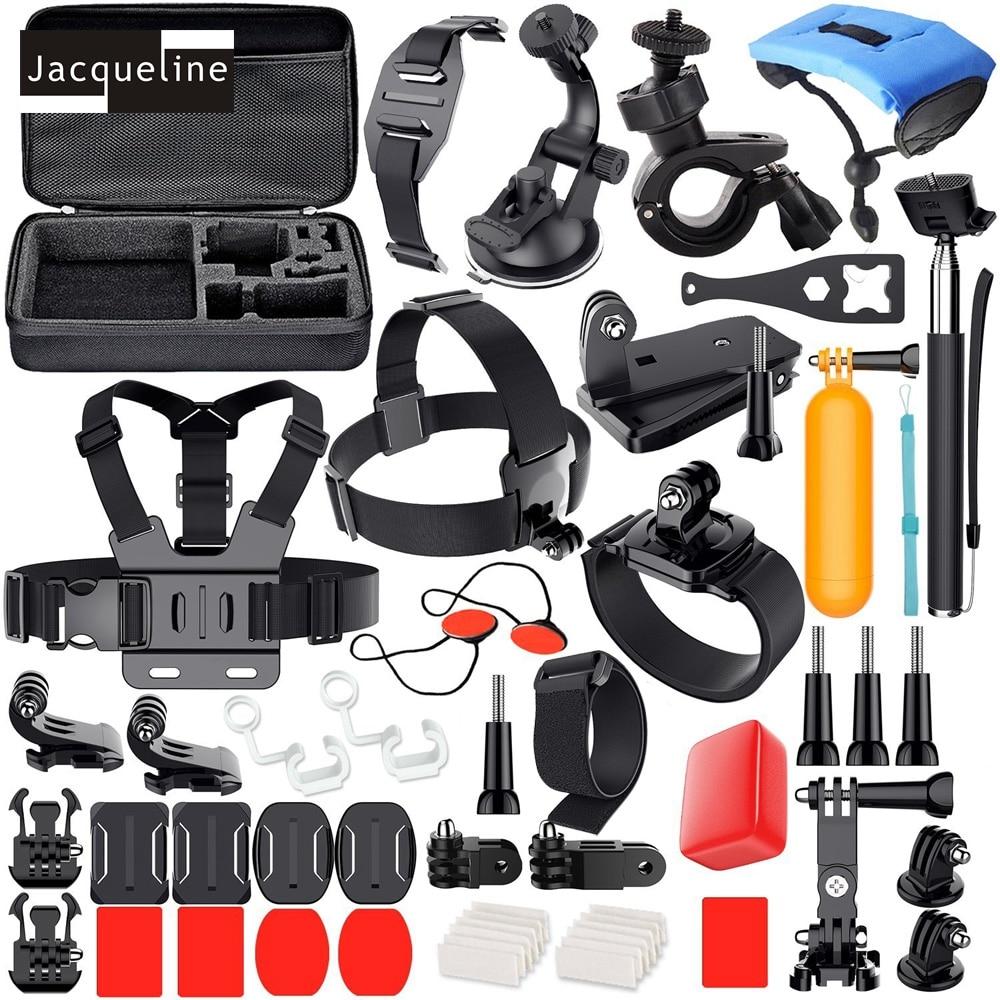 Jacqueline pour Sports de plein air Kit accessoires Set pour Gopro Hero 6 5 4 session 3 + 3 2 pour SJCAM SJ5000 SJ6000 SJ4000 pour EKEN