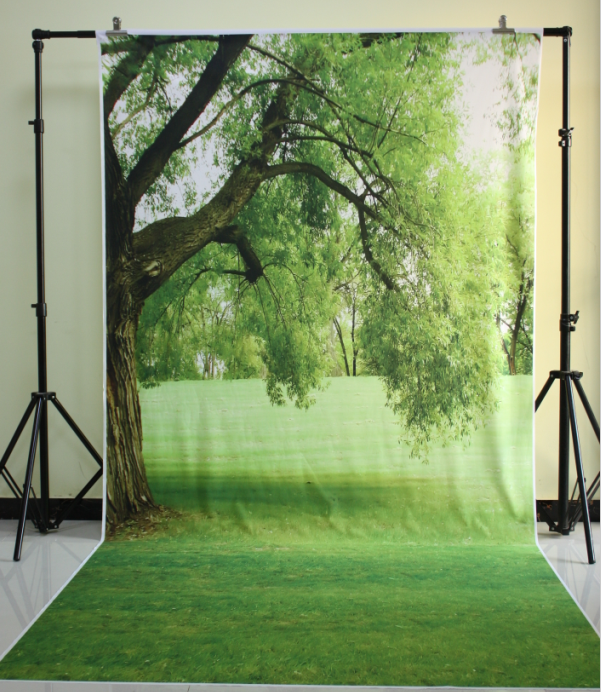 HUAYI 5x10ft Cotton Polyester Big Trees Photography Backdrop Washable Photo Studios Baby Props Background KP-044 huayi love photography backdrop scenery custom photo portrait studios background valentine s day backdrop xt4838