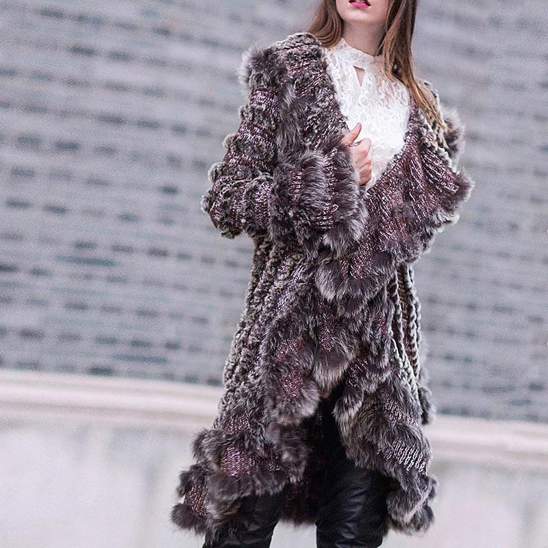 Tricoté Réel Pour Naturelle Veste 2018 Paste Fursarcar Et Lapin Photo Conception Femmes De Bean Manteau D'hiver as Automne Rex Fourrure Longue Mode qxtx4ap6