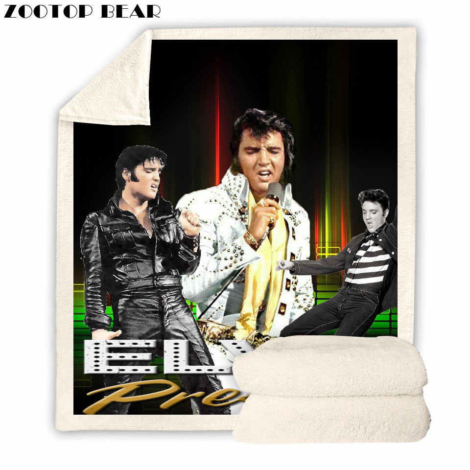 Outlet Throw Blanket Adult Beds Soft ELVIS 3D Print Air Casual Quilts Bedding Picnic Fashion Brand Office Travel Kids Drop Ship