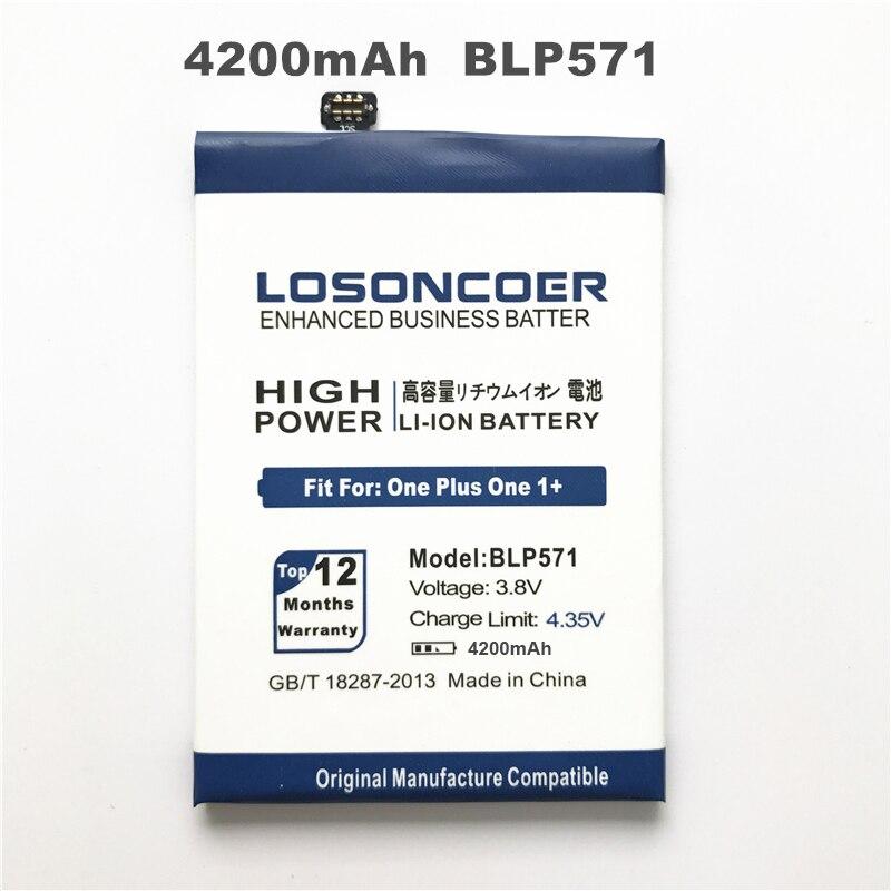 imágenes para BLP571 LOSONCOER 4200 mAh Batería para Oneplus Uno más uno 1 + Para OPPO Oneplus Uno Más 64 GB 16 GB Batería