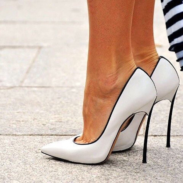 Sexy Women Stilettos Heel Pumps Blades Metallic Blade Court Shoes Woman Pointed Toe Chaussure Femme Slip On High Heels Woman sexy silver blade heels woman pumps pointed toe metal heels high heel dress shoes cut out mixed colors slip on women pumps