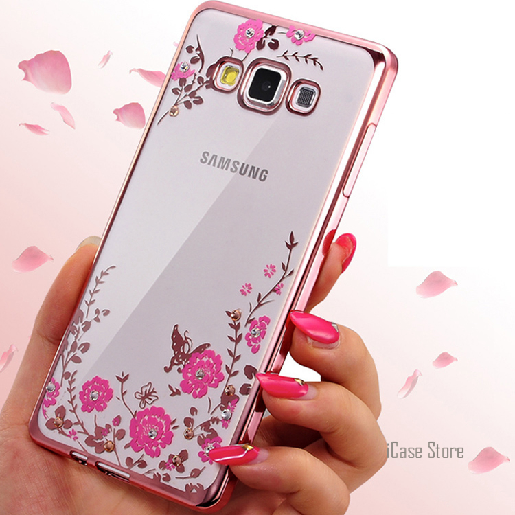 Soft Silicone TPU Flower Phone Case For Samsung Galaxy A3 A5 2017 A7 S3 S4 S5 S6 S7 Edge S8 Plus J3 J5 2016 J7 Grand Prime case